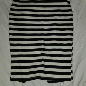 Torrid Stripped pencil skirt